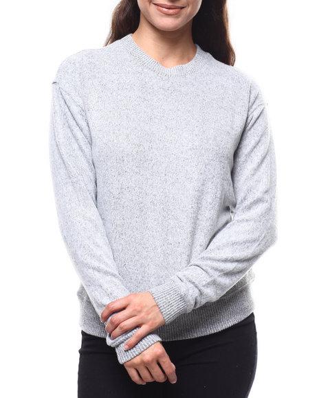 Fashion Lab - 2Tone Hacci Ribbed Sleeve Sweater