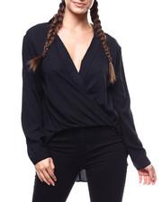 Fashion Lab - L/S Lapel Collar Surplice Blouse-2279350