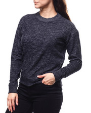 Sweaters - 2Tone Hacci Ribbed Sleeve Sweater-2280385