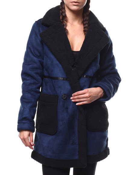 Fashion Lab - Faux Shearling Coat