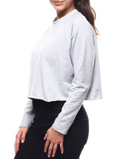 "Women - ""For Me"" Cut Out Sleeve French Terry Pullover-2280441"