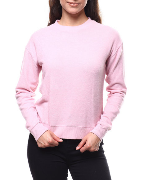 Fashion Lab - 2Tone Hacci Ribbed Sleeve Sweater