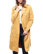 Women - Suede Trench Coast-2280711