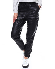Women - Faux Leather Jogger-2280841