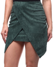 Women - Faux Suede Wrap Skirt-2280549