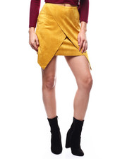 Womens-Fall - Faux Suede Wrap Skirt-2280553