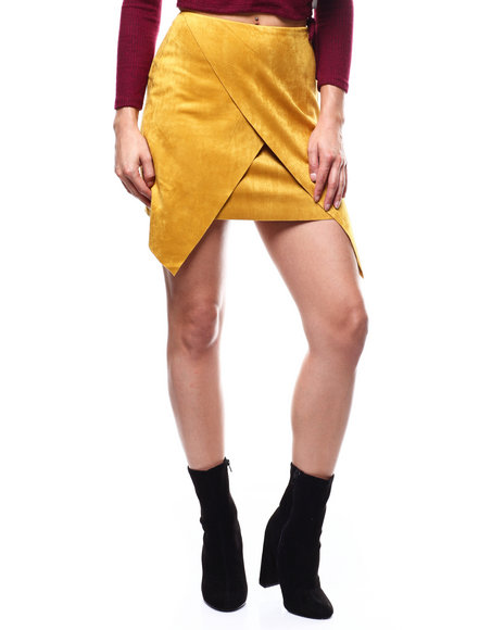 Fashion Lab - Faux Suede Wrap Skirt