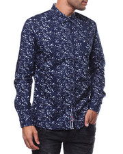 Stylist Picks - ABSTRACT FLOWER LS BUTTON FRONT SHIRT-2278325