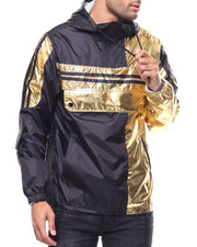 Light Jackets - METALLIC GOLD COLORBLOCK  ANORAK-2281491