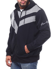 Marc Ecko Collection - Mixed Media Zip Hoodie (B&T)-2281595