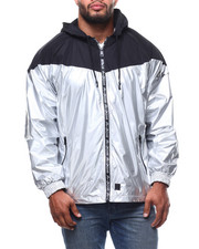 Marc Ecko Collection - Mixed Media Windbreaker Jacket (B&T)-2281591