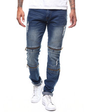 Jeans & Pants - ARTICULATED STRETCH JEAN W ZIPPER DETAIL-2281532