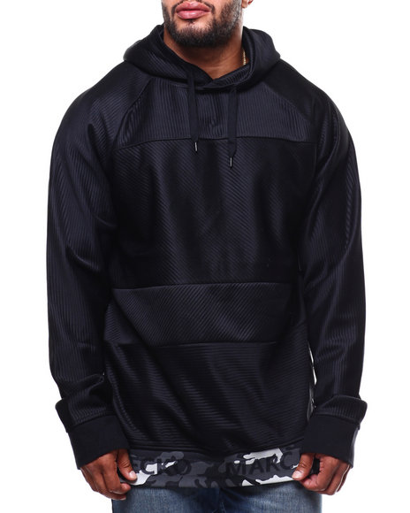 Marc Ecko Collection - Pullover Hoodie Camo Trim Logo (B&T)