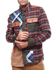 Button-downs - FLANNEL PATCHWORK SHIRT  BY PREME-2281497