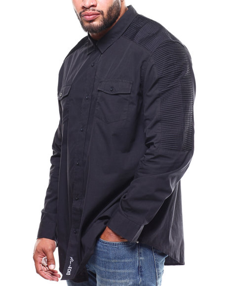 Marc Ecko Collection - L/S Moto Woven (B&T)