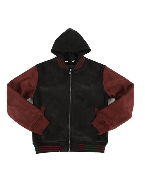 Arcade Styles - Micro Suede w/ Sherpa Lining Jacket (8-20)