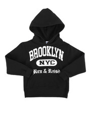 Hoodies - Born & Raised in Brooklyn Pullover Hoodie (8-20)-2280640