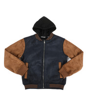 Light Jackets - Micro Suede w/ Sherpa Lining Jacket (8-20)-2281653