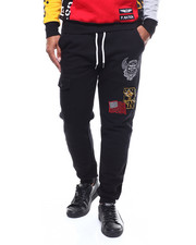 Parish - VARSITY PATCH FLEECE SWEATPANTS-2282045
