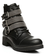 Footwear - Lace Up Multi Strap Boots-2282292