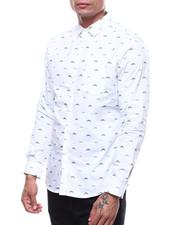 Shirts - SERIOUSLY Mustache LS Woven Button down Shirt-2282710