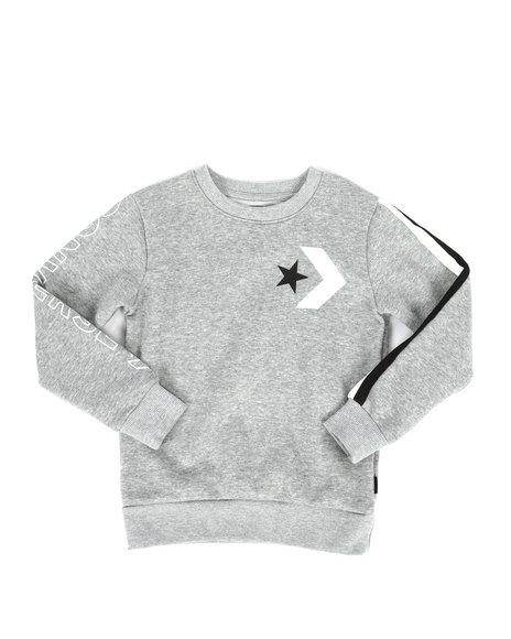 Converse - Striped Wordmark Fleece Sweatshirt (4-7)