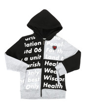 Hoodies - Color Block Full Zip Hoodie (4-7)-2281774