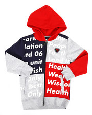 Hoodies - Color Block Full Zip Hoodie (4-7)-2281755