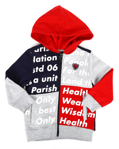Parish - Color Block Full Zip Hoodie (2T-4T)