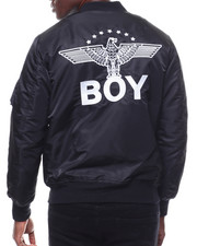 BOY LONDON - Star Eagle Artwork on Back Bomber Jacket-2280224