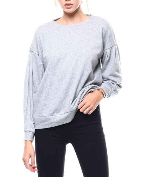 Fashion Lab - Lace Up Back L/S Pullover