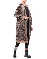 Sweaters - Animal Print Oversized Duster Cardigan-2280808