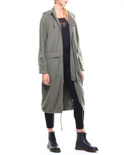 Womens-Winter - Oversized Twill Hoodie Jacket-2280832