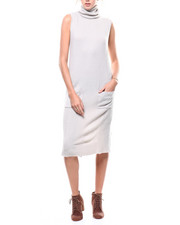 Womens-Fall - S/L Turtleneck Sweater Dress-2280803