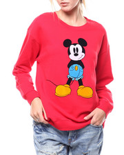 Sweaters - Mickey Graphic Drop Shoulder Crew Neck-2282867