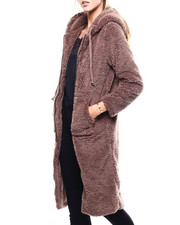 Womens-Winter - Plush Oversized Zip FRont Hoodie-2280703