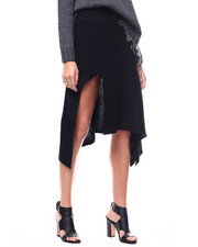 Women - Sweater Ribbed Knit Hi-Low Skirt-2280541
