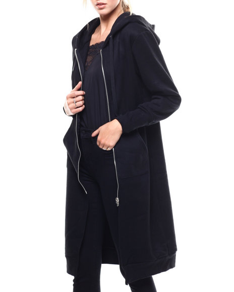 Fashion Lab - French Terry Oversized Zip Hoodie