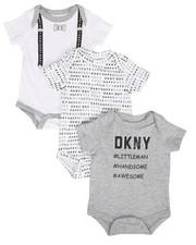 DKNY Jeans - Littleman 3-Piece Creeper Set (Infant)-2283113