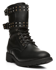 Fashion Lab - Double Strap Lace Up Bootie-2283598