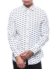 Mens-Holiday - All over Car print LS Woven Shirt-2283047