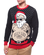 Ugly Christmas Shop - SANTA TATTOO  UGLY XMAS SWEATER-2283664