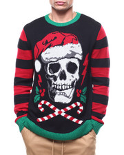 Sweatshirts & Sweaters - Skull and Candy Cane twilight Ugly Xmas Sweater-2283697