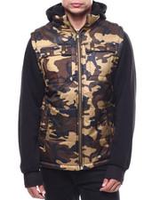Men - Padding Jacket w Fleece Sleeve-2283081
