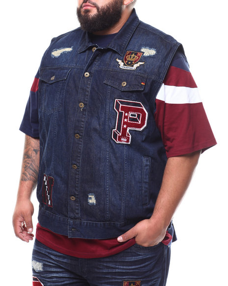 Parish - Patched Denim Vest (B&T)
