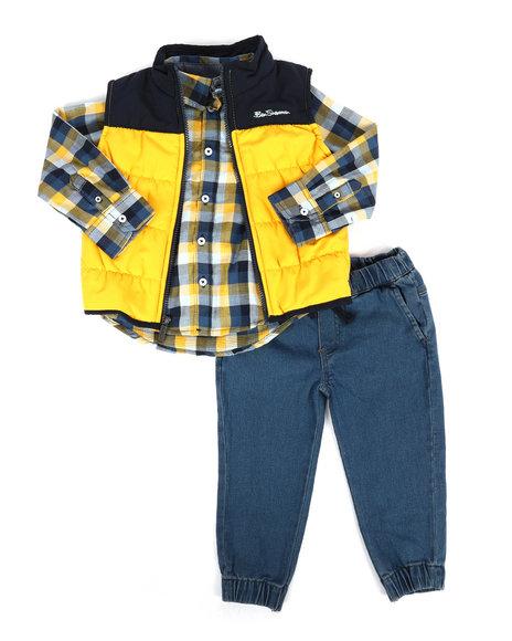 Ben Sherman - 3 Piece Vest Set (2T-4T)