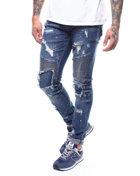 Heritage America - BLOWN OUT KNEE MOTO JEAN