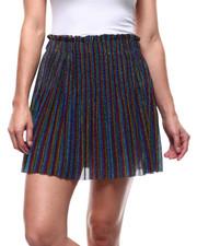 Bottoms - Metallic Pleated Skirt-2280900