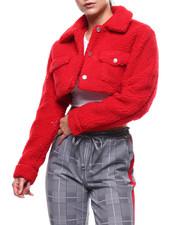 Womens-Fall - Sherpa L/S Cropped Jacket-2282844