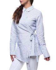 Fashion Tops - Stripe L/S French Cuff Tunic-2283681